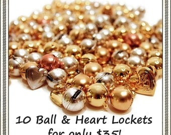 GRAB BAG DEAL - 10 lockets A La Carte for A Ridiculous Price - Slightly Irregular and Studio Seconds Clearance