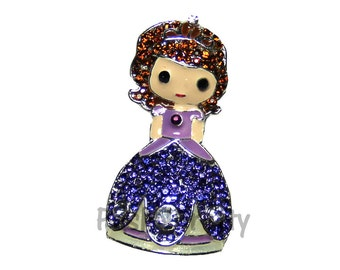 NEW 1.25 inches ONE Character Sparkle Flat back Center - BLINGED Sofia