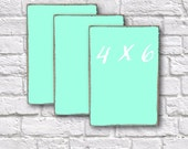 3-4x6 Mini Chalk Boards, Aqua, Buffet Menu Signs, Table Numbers, Notes, Bar Menu, Bakery, Coffee Shops, Cafe Signs, Gifts, Dessert Bar