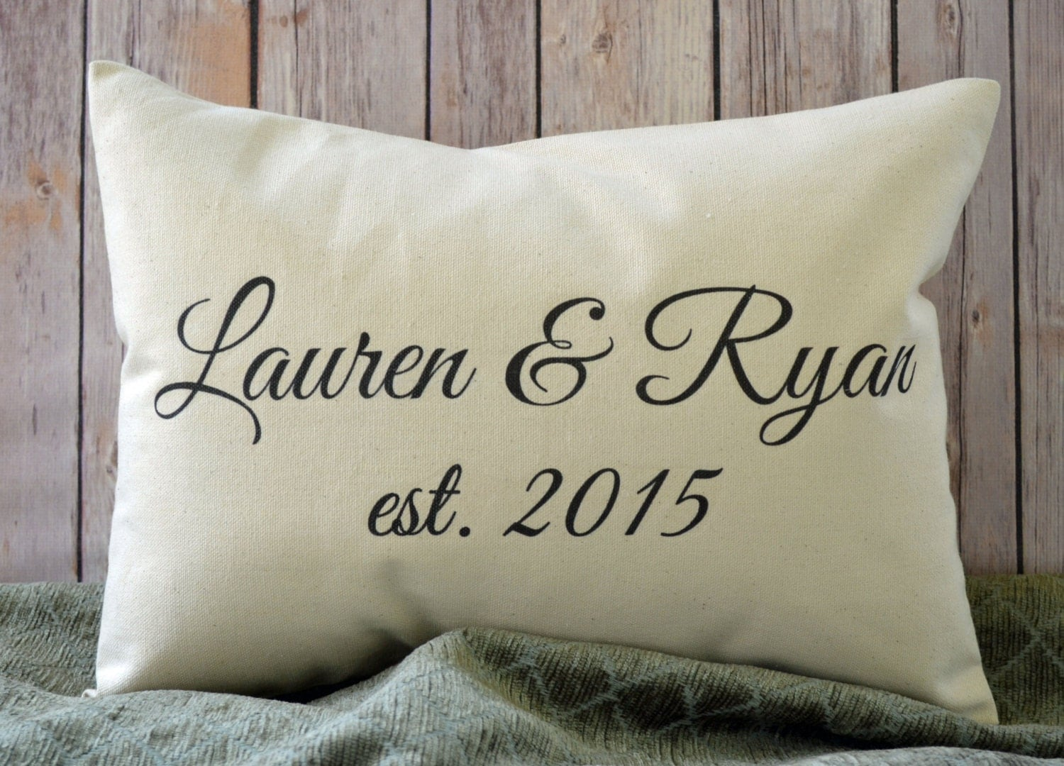 Gifts For 2nd Wedding Anniversary: 2nd Anniversary Gift Second Anniver. Pillow Second Marriage