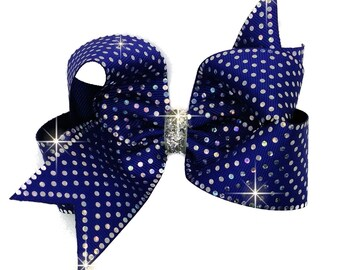 Silver Spangle Bling Boutique Hair Bow