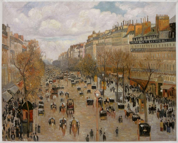boulevard montmartre afternoon sunlight camille pissarro. Black Bedroom Furniture Sets. Home Design Ideas