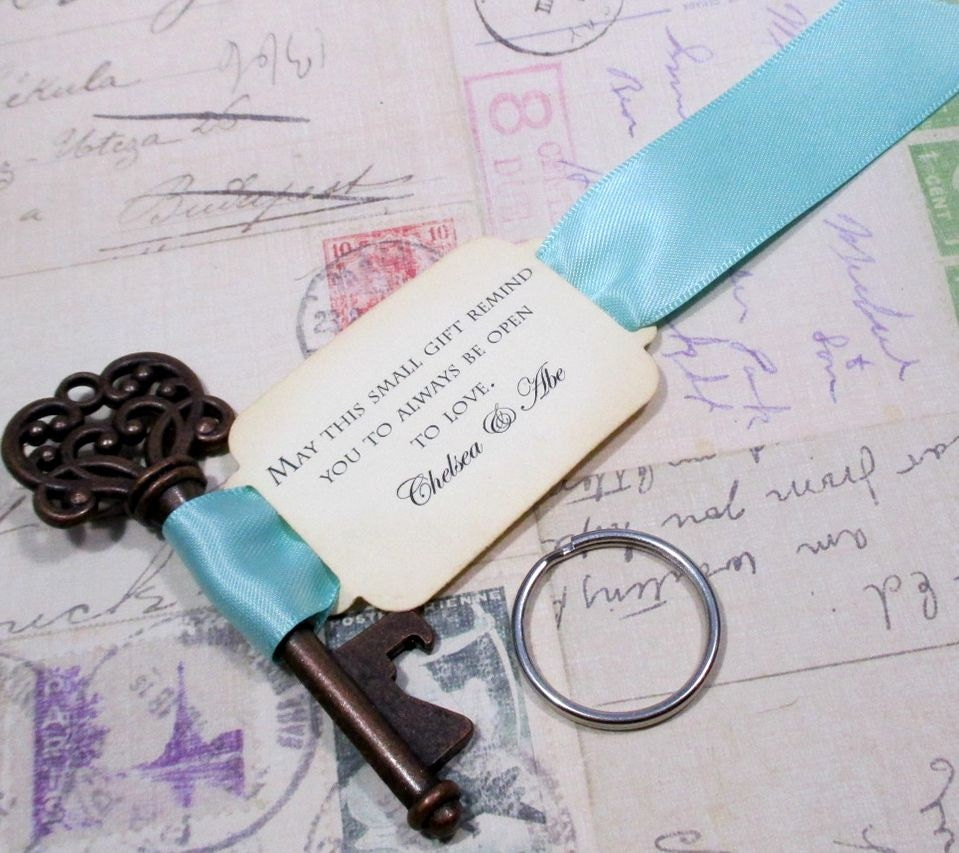 key bottle opener wedding favor skeleton key