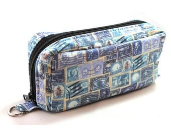 Essential Oil Case Holds 10 Bottles Essential Oil Bag Blue Stamps