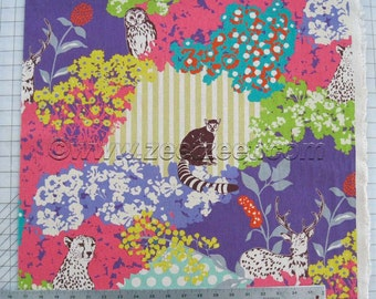 HIDE Purple Echino Decoro Japanese Fabric Import - Lightweight Canvas Japan Jg-96000-900A by Etsuko Furuya Kokka