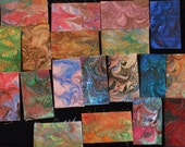 Hand Marbled  Pima Assorted Swatches