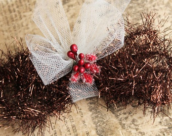 NEW! Copper Tinsel Garland - Soft Vintage Style Tinsel Garland 40 Inches - Christmas Tinsel Trim Metallic Copper