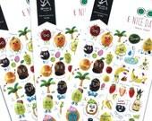 KAWAII Fruits Stickers Banana Strawberry Orange Raspberry Lemon Grapes Cute Decorating Scrapbook Supplies