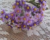Czech Republic Velvet Forget Me Nots Millinery Fabric Flowers Purple Mix