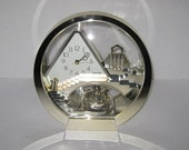 Rythm Stairway To Heaven Quartz Mantel Clock Rotating Angels Made in Japan