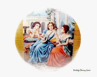 Vintage European Women Print, Wall Art