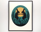 Rabbit Moon Screenprint
