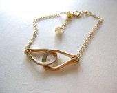 Interlocking Loops Bracelet, Gold Interlocking Loops Bracelet, Silver Interlocking Loops Bracelet, Suppot CASA