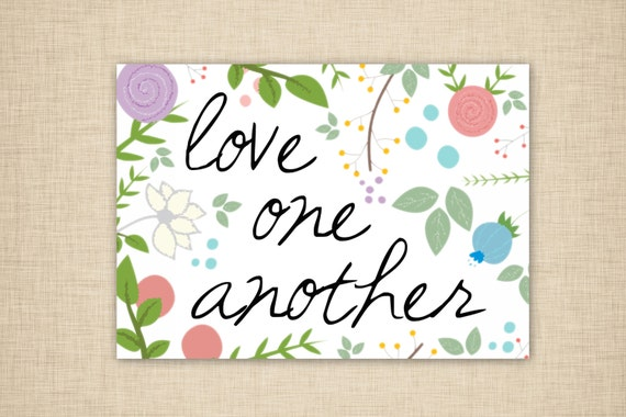 Trust image pertaining to love one another printable
