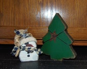 CLEARANCE...As Is...No Returns..Sock Hat Snowman and Tree...WAS 10.95..NOW 7.95