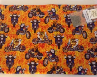 Catnip Activity Mat - Motorcycle Cats -Refillable and Washable