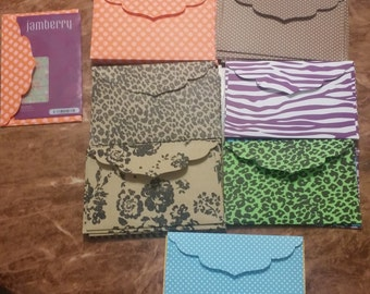Set of 8 Cardstock Envelopes for Jamberry Nail Sheets 6.25x4