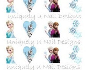 Frozen Nail Decals