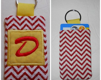 """Sale Quilted """"D"""" Key Chain only (READY TO SHIP)"""