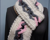 Crochet Chain of Hearts for Valentine's day Infinity Scarf