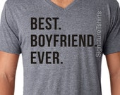 Valentine's Day Best Boyfriend Ever T-shirt MENS T shirt Boyfriend Gift Christmas Gift Tshirt Cool boyfriend V neck tee Shirt Holiday Gift