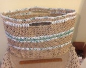 Reserved for beachedsiren large plarn tote
