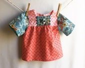 Cute Girls Dress in Echino and Anna Maria Horner Fabrics. Size  2t