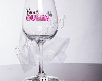 Bunco Queen Wine Glass