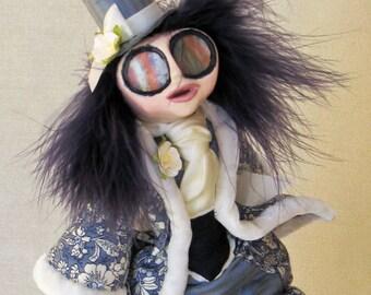 The Caterpiller - Wonderland Fantasy Art Doll