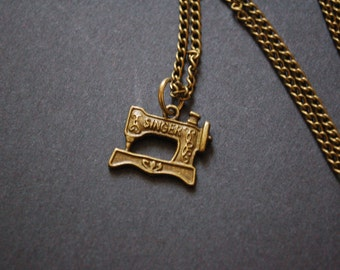 antique singer sewing machine necklace