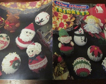 Christmas Crocheting Patterns Wee Winter Trinkets Annie's Attic 87W81 Holiday Crochet Pattern Leaflet