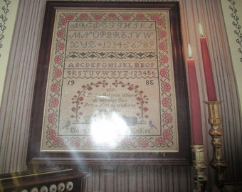 Counted Cross Stitch Kit Doxology Sampler Margaret and Margaret Complete and Ready to Stitch