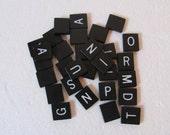 Scrabble noir Ipswich jeu lettre ne carreaux aucuns chiffres pour l'artisanat et l'Art altéré