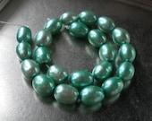 Mint Green Freshwater Potato Pearls, 6x8mm, 22ea
