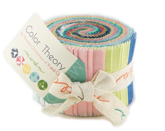 Moda Rainbow Pastel Colors- Jr. Jelly Roll -100% cotton