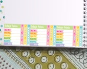 Weight Watcher Points Tracker Stickers Printable - Rainbow - Instant Download - to fit your Erin Condren