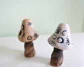 Fairy garden toadstool: cast marble stone
