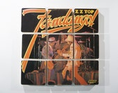 ZZ TOP recycled Fandango album jacket coasters with record bowl