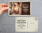 "50+ Save the date card, postcard, vintage, ""Davis Style"""