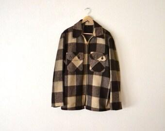 1960's Brown Wool Flannel Jacket