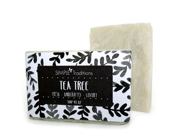 Soap Tea Tree Soap Bar All Natural Vegan Handmade Soap