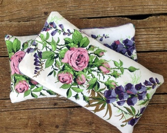 Heat Pack Lavender and Rice Upcycled Vintage Linens