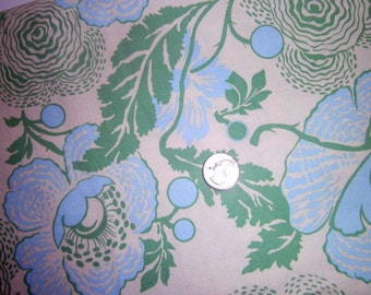 Amy Butler Fabric, ,Midwest Modern, Sewing, Cotton, Yardage, Cream, Green, Blue, Quilting, Handbags, Apparel, Home Decor