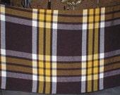 Vintage Blanket Wool Pearce Woolrich Plaid Large 91X76 1950s