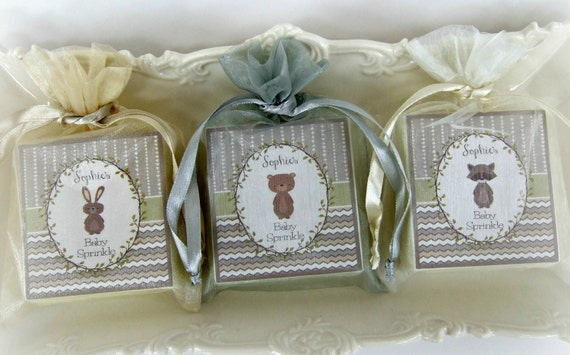 baby shower soap favors woodland favors set of 12 baby boy favors