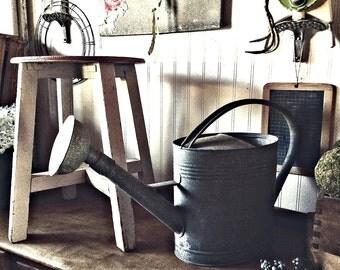 Vintage Wood Primitive Stool