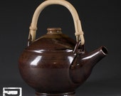 Stoneware Teapot with Cane Handle