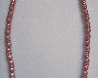Pink Miracle Bead Stretch Necklace