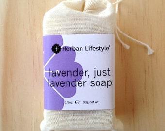 Lavender, Just Lavender Soap - Vegan - Made with Organic Vegetable Oils