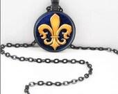 Fleur De Lis Necklace, Fleur De Lis Pendant, Fleur De Lis Musketeer Bohemian Gypsy Jewelry RW376